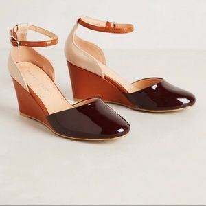 Anthropologie patent leather wedge by MaraisUSA